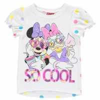 Character Short Sleeve T-Shirt Infant Girls Minnie Mouse Детски тениски и фланелки