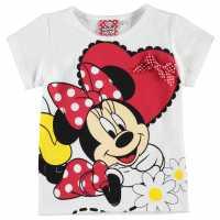 Character Детска Тениска Short Sleeve T Shirt Infant Girls Minnie Mouse2 Детски тениски и фланелки