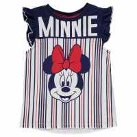 Character Детска Тениска Short Sleeve T Shirt Infant Girls Minnie Mouse Детски тениски и фланелки