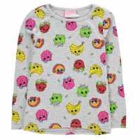 Character Горнище С Дълъг Ръкав Long Sleeve Top Infant Girls Shopkins Детски тениски и фланелки