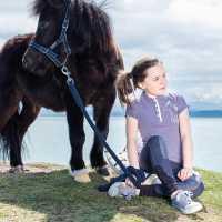 Horseware Pique Polo Gl93 Lavender Детски тениски тип поло