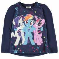 Character Тениска Малко Момиче Long Sleeved T Shirt Infant Girls My Little Pony Детски тениски и фланелки