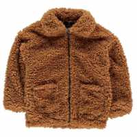 Firetrap Teddy Coat Infant Girls Cream Детски якета и палта
