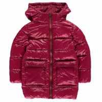 Everlast Яке Момичета Long Bubble Jacket Infant Girls Sangria Детски якета и палта