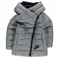 Nike Детско Яке За Момчета Hooded Jacket Child Boys Metallic Grey Мъжки якета и палта