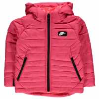 Nike Ватирано Яке Padded Jacket Child Girls Fusion Red Мъжки якета и палта