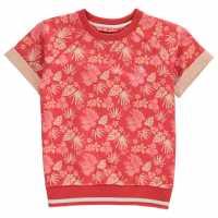 Penguin Aop Sweater Top Infant Girls Hot Coral Детски горнища и пуловери