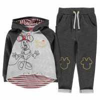 Character Jogging Set Infant Girls Disney Minnie Детски полар