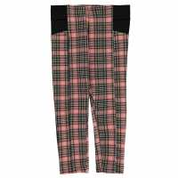 Crafted Sturdy Leggings Girls Pink Check Детски клинове