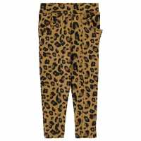 Crafted Ponte Trousers Infant Girls Leopard Детски дънки