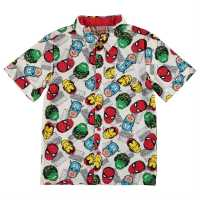 Character Short Sleeve Shirt Infant Boys Avengers Детски ризи