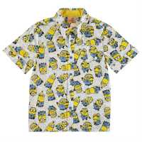 Character Блуза С Къс Ръкав За Момче Short Sleeve Shirt Infant Boys Minions Детски ризи