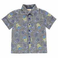 Character Short Sleeve Shirt Infants Minions Детски ризи
