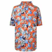 Thomas Royall Children Boys Butterfly Shirt Orange Детски ризи