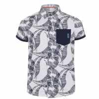 Sale Soulcal Short Sleeve Shirt Infant Boys White Fern Детски ризи