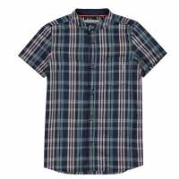 Sale Soulcal Short Sleeve Shirt Infant Boys Pink Check Детски ризи