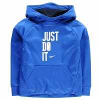 Nike Badge Sweatshirt Junior Boys Game Royal Детски суитчъри и блузи с качулки
