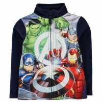 Character Zip Fleece Infant Boys Avengers Детски полар