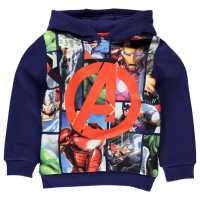 Character Суитшърт Момчета Over The Head Hoody Infant Boys