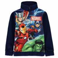 Character Zip Fleece Infant Boys Avengers Детски полар