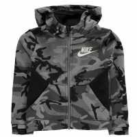 Nike Club Camo Zip Hoodie Infant Boys Black/Grey Детски суитчъри и блузи с качулки