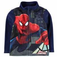 Character Zip Fleece Infant Boys Spiderman Детски полар