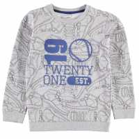 Crafted Crew Neck Sweater Child Boys Grey Sneaker Детски суитчъри и блузи с качулки
