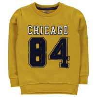 Crafted Crew Neck Sweater Child Boys Mustard Chicago Детски суитчъри и блузи с качулки