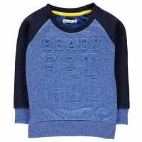 Crafted Пуловер Малки Момчета Crew Sweater Infant Boys Blue set go Детски горнища и пуловери
