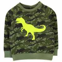 Crafted Пуловер Малки Момчета Crew Sweater Infant Boys Khaki Dino Детски горнища и пуловери