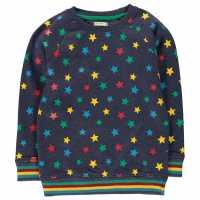 Crafted Пуловер Малки Момчета Crew Sweater Infant Boys Navy Star Детски горнища и пуловери