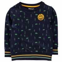 Crafted Пуловер Малки Момчета Crew Sweater Infant Boys Navy AOP Детски горнища и пуловери