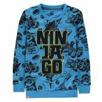 Lego Wear Boucle Crew Sweater Child Boys Blue Ninjago Детски горнища и пуловери