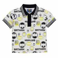 Character Блуза С Яка Polo Shirt Infant Boys Batman Детски тениски тип поло