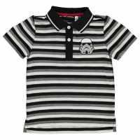 Character Блуза С Яка Polo Shirt Infant Boys Black Детски тениски тип поло