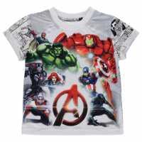 Character Детска Тениска Short Sleeve T Shirt Infant Boys Avengers Детски тениски и фланелки