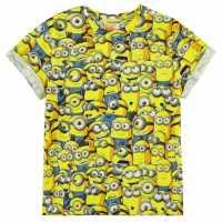 Character Детска Тениска Short Sleeve T Shirt Infant Boys Minions Детски тениски и фланелки