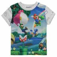 Character Детска Тениска Short Sleeve T Shirt Infant Boys Nintendo Детски тениски и фланелки