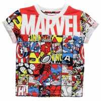 Character Детска Тениска Short Sleeve T Shirt Infant Boys Avengers 2 Детски тениски и фланелки