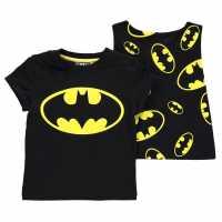 Character Детска Тениска Short Sleeve T Shirt Infant Boys Batman Детски тениски и фланелки