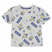 Character Детска Тениска Short Sleeve T Shirt Infant Boys Minions 2 Детски тениски и фланелки