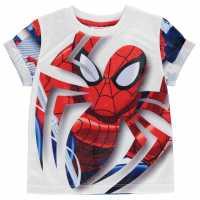 Character Детска Тениска Short Sleeve T Shirt Infant Boys Spiderman 2 Детски тениски и фланелки