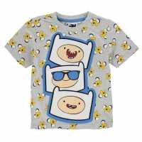 Character Детска Тениска Short Sleeve T Shirt Infant Boys Adventure Time Детски тениски и фланелки