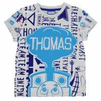 Character Детска Тениска Short Sleeve T Shirt Infant Boys Thomas Детски тениски и фланелки
