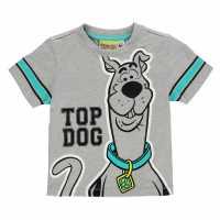 Character Детска Тениска Short Sleeve T Shirt Infant Boys Scooby Doo Детски тениски и фланелки
