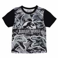 Character Детска Тениска Short Sleeve T Shirt Infant Boys Jurassic World2 Детски тениски и фланелки