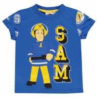 Character Детска Тениска Short Sleeve T Shirt Infant Boys Fireman Sam Детски тениски и фланелки