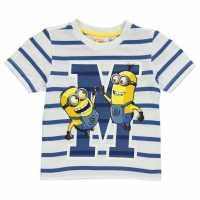 Character Детска Тениска Short Sleeve T Shirt Infant Boys Minions 3 Детски тениски и фланелки