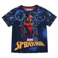 Character Детска Тениска Short Sleeve T Shirt Infant Boys Spiderman 3 Детски тениски и фланелки