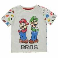 Character Детска Тениска Short Sleeve T Shirt Infant Boys Nintendo 4 Детски тениски и фланелки